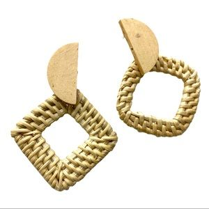 2 / $10  Geometric Rattan Earrings
